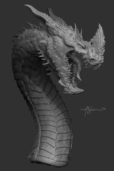 Dragon Made for fun in Zbrush Yes, Head design is based off of Laurel Austins Concept. Asked her persmission a while back to use it.