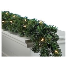 Philips 9ft Battery-Operated Pre-Lit LED Garland with Clear/Multicolored Lights : Target