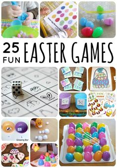 25 Fun Easter Games for toddlers and preschoolers!