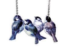 Statement Ketten - Kette Acryl Vögel Meisen vintage - ein Designerstück von Dear_Prudence bei DaWanda