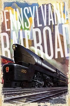 Pennsylvania Railroad Painting Print on Wrapped Canvas