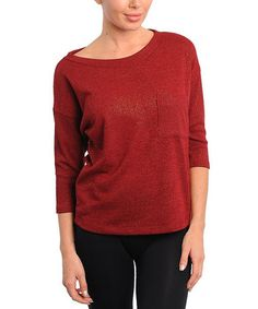 Take a look at this Burgundy Boat-Neck Sweater by Buy in America on #zulily today!