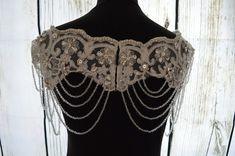 Paris Crystal Bolero Wedding Dress Bolero by CrystalandPearlB