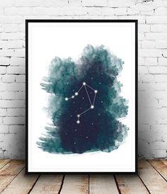 Digital Zodiac Sign Watercolor Print, Digital Download Astrology Artwork, Zodiac Artwork, Zodiac signs, Libra Art