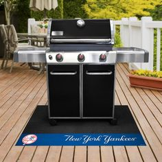 Show some team pride while grilling with the officially licensed Collegiate Grill Mat. Made with recycled vinyl backing that prevents spills or any mess from damaging your deck. x size fits under most grills. Decking Material, Grill Accessories, Composite Decking, Barbecue Grill, Southern Style, Southern California, Die Hard, Garden Hose, Patio