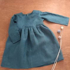 Girls linen dress long sleeve Baby Girl Dresses, Baby Boy Outfits, Cute Outfits, Baby Dress Pattern Free, Cool Baby Clothes, Boys Summer Outfits, Group Boards, Girls Wardrobe, Handmade Baby