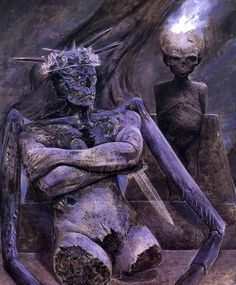 Wayne Barlowe, Inferno, Moloch The Ash Lord Hr Giger, William Blake, Cthulhu, Dark Fantasy, Fantasy Art, Wayne Barlowe, Les Aliens, Horror Monsters, Angels And Demons