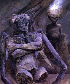 Wayne Barlowe, Inferno, Moloch The Ash Lord Hr Giger, William Blake, Cthulhu, Dark Fantasy, Fantasy Art, Wayne Barlowe, Les Aliens, Horror Monsters, Alternative Art
