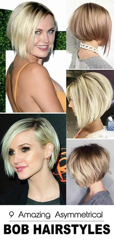 Bobs are always classical and never goes out of style. An asymmetrical bob haircut gives an edgy and gorgeous look that you can customize with colors and bangs. We have gathered some Amazing Asymmetrical Bob Hairstyles and haircuts to inspire you. Best Bob Haircuts, Asymmetrical Bob Haircuts, Bob Hairstyles For Thick, Modern Haircuts, Hairstyles Haircuts, Stylish Hairstyles, Medium Hair Cuts, Short Hair Cuts, Short Hair Styles