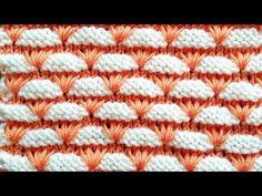 Çift Renkli Çiçekli Kemerler Örgü Modeli - YouTube Two Color Knitting Patterns, Crochet Stitches Patterns, Knitting Stitches, Knitting Designs, Stitch Patterns, Diy Crafts Knitting, Crochet Projects, Knitting Wool, Baby Knitting