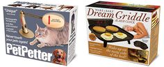 Pet Petter and Dream Griddle Alarm Clock Gag Gifts