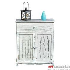 Pasillo-comoda-en-el-Shabby-Chic-cajon-blanco-armario-estante-Credenza-madera