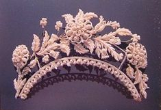 Victorian Seed Pearl Tiara, early 19th century. From the Victorian Jewelry Exhibition of the Bunkamura Museum in Japan.