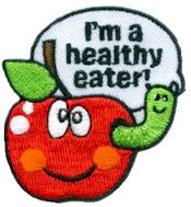 Healthy Eater Patch for Earning your My Best Self Brownie Badge. From MakingFriends.com