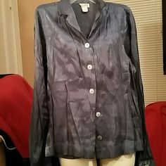 Shimmering medium blouse Great button down blouse,  good for professional wear! ALLISON TAYLOR Tops Blouses