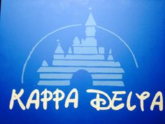 Kappa Delta Disney canvas for my little!