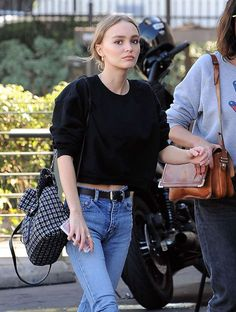 Lily-Rose Depp out for lunch in Los Feliz. October 18, 2016