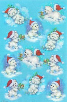 AGC polar bears in hats winter stickers Christmas Clipart, Christmas Stickers, Polar Bears, Teddy Bears, Cute Bunny, Vintage Postcards, Cute Art, Art Pictures, Vintage Christmas