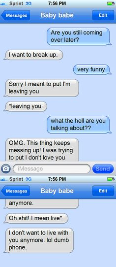 Best thing about getting dumped via text message? The funny screenshot! Thank yo… Best thing about getting dumped via text message? The funny screenshot! Thank you breakup gods! Funny Texts Crush, Funny Text Fails, Funny Text Messages, Crush Funny, Hilarious Texts, Epic Fail Pictures, Funny Pictures, Getting Dumped, Crush Humor
