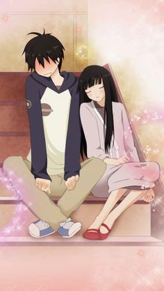 Kimi ni Todoke - Shouta so shy about Sawako accidentally leaning on his shoulder after falling asleep