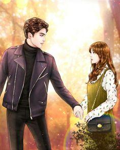 Sung Hoon - My Secret Romance - Song Ji Eun - Korean drama 성훈 Cute Couple Cartoon, Anime Love Couple, Couple Art, I Love Anime, Anime Couples Manga, Cute Anime Couples, Korean Art, Korean Drama, Sung Hoon My Secret Romance