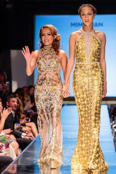 MIMI Tran herself with model Jordan at Sacramento Fashion Week 2-22-14