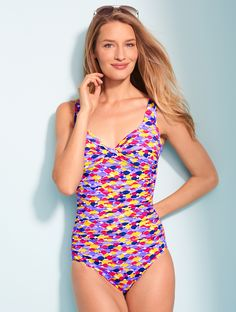 9d1c4f8f04 Take a dip in a Talbots exclusive with a fun twist front