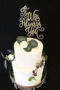 It Was Always You Wedding Cake Topper Metallic Gold >>> Click image to review more details.-It is an affiliate link to Amazon. #WeddingCakeTopper