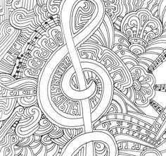 Abstract Music Coloring Pages