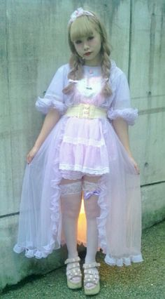 cult party kei  lavender/pink coord