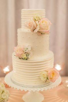 A gorgeous cake on a pretty milk glass cake stand.  Source: pinterest #milkglass #weddingcake #cakestand                                                                                                                                                                                 More