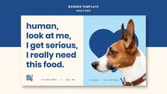 Pet Websites, Pet Branding, Pets Online, Minimal Web Design, Dog Shop, Social Media Design, Dog Food Recipes, Food Template, Food Concept