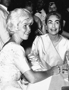 Doris Day and Joan Crawford