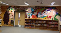 The Meads Primary School library.. What a fun project!
