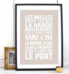 Affiche Bord de mer «Saint Cast»