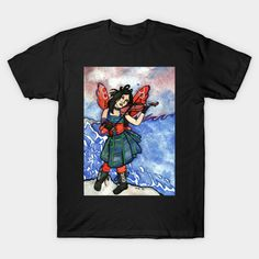 She plays for the Waves - Goth Fairy - T-Shirt | TeePublic Plays, Shirt Designs, Illustration Art, Goth, Fairy, Waves, Fantasy, Legends, Mens Tops