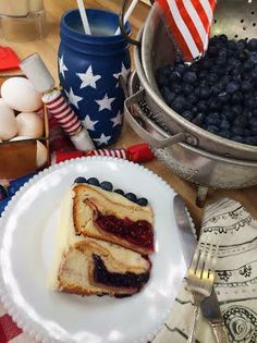 @Lilyshop with Jessie Jane with Jessie Jane  puts a pie in a cake! She bakes a delicious Cherry Cake Pie for Fourth of July!