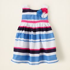 baby girl - dresses & rompers - striped poplin dress | Children's Clothing | Kids Clothes | The Children's Place