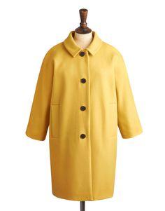 Joules Sharbury Vintage 1950s Style Dress Coat in Caramel/Mustard Yellow 10/12