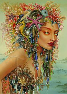 Maxine Gadd published fairy and fantasy artist. Exceptional digital illustrations and mystical beings Inspiration Artistique, Sea Pictures, Josephine Wall, Mermaids And Mermen, Fantasy Mermaids, Real Mermaids, Merfolk, Fairy Art, Magical Creatures