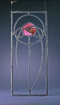 Stained glass window, Ernest Archibald Taylor, ca. 1898-1906. #artsandcrafts #rose