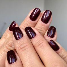 Purple Shellac Nails, Dark Color Nails, Dark Purple Nails, Shellac Nail Colors, Cnd Nails, Nail Colour, Fall Acrylic Nails, Dark Nails, Manicures