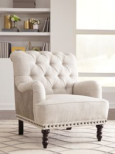 Shop Ashley Furniture Tartonelle Ivory Taupe Accent Chair with great price, The Classy Home Furniture has the best selection of Accent Chairs to choose from New Furniture, Rustic Furniture, Luxury Furniture, Living Room Furniture, Living Room Decor, Bedroom Decor, Antique Furniture, Furniture Mattress, Outdoor Furniture