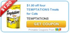 Tri Cities On A Dime: SAVE $1.00 ON 4 TEMPTATIONS TREATS FOR CATS