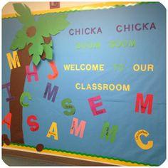 Chicka Chicka Boom Boom Back to School Pre-K Bulletin Board