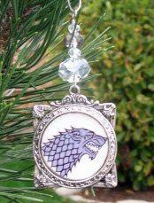 Handmade Stark Family Sigil Game of Thrones by kabjewelrydesign