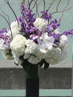 purple wedding florals