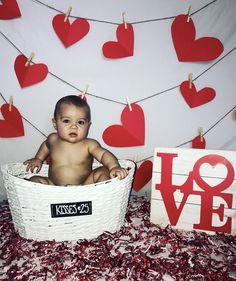 : Valentine's Baby Boy Photoshoot Valentine Picture, Valentines Day Baby, Valentines Day Pictures, Valentine Nails, Holiday Pictures, Valentine Ideas, Monthly Baby Photos, Monthly Pictures, Baby Boy Pictures