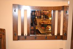 M7 Arts and Crafts Mission Oak Bevelled Mirror by OakParkAntiques, $269.00