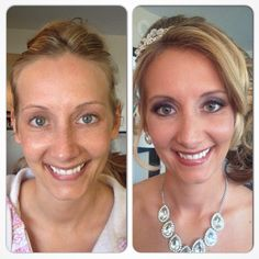Before and after of bride, Danielle